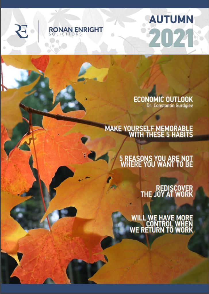 Autumn 2021 newsletter